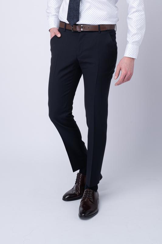 Oblekové kalhoty Antracitově černé barvy