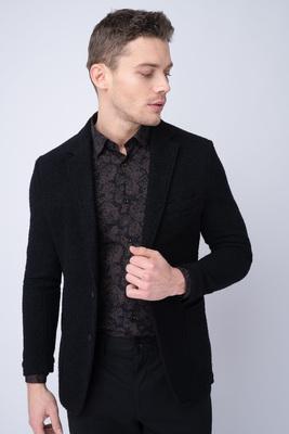 Jersey jacket Z černého úpletu