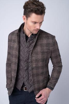 Jersey jacket S károvaným vzorem
