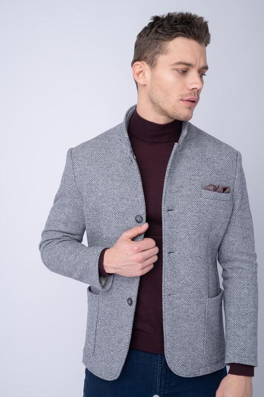 Jersey jacket S jemným vzorem