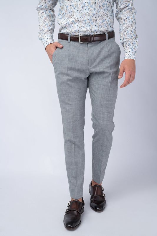 Šedé kalhoty V extra slim střihu