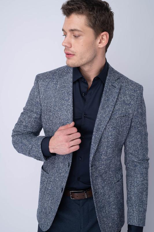 Neformální sako V různých odstínech modré