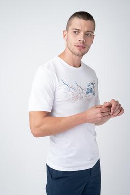 Bílé triko S originálním potiskem