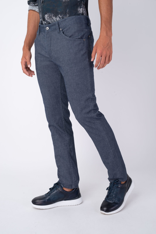 Neformální kalhoty Z bavlny a lnu