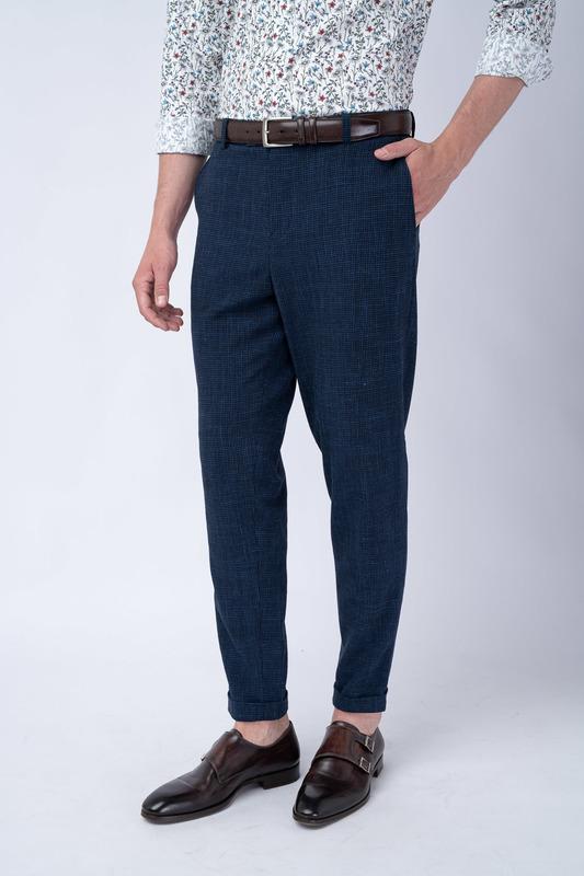 Oblekové kalhoty S drobnou kostkou