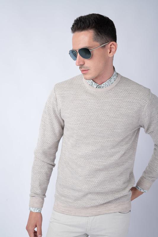 Béžový svetr Ze 100% merino vlny