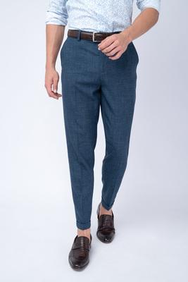 Oblekové kalhoty Z vlny, hedvábí a lnu