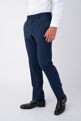 Oblekové kalhoty Ocelově modré barvy