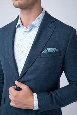 Oblekové sako Z vlny, hedvábí a lnu