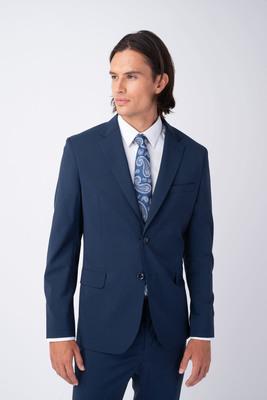 Oblekové sako Ocelově modré barvy