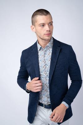 Jersey jacket S decentním vzorem