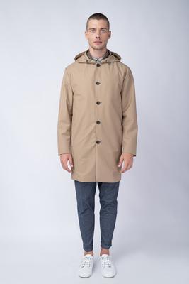Béžový plášť S nepromokavou úpravou