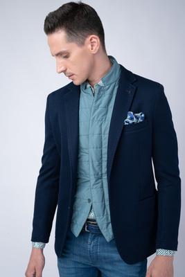 Jersey jacket V extra slim střihu