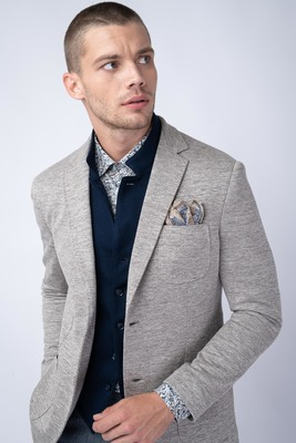 Jersey jacket V odstínech béžové