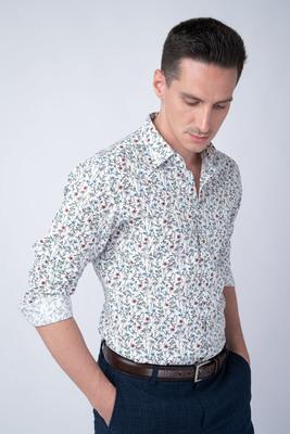 Neformální košile S květinovým vzorem