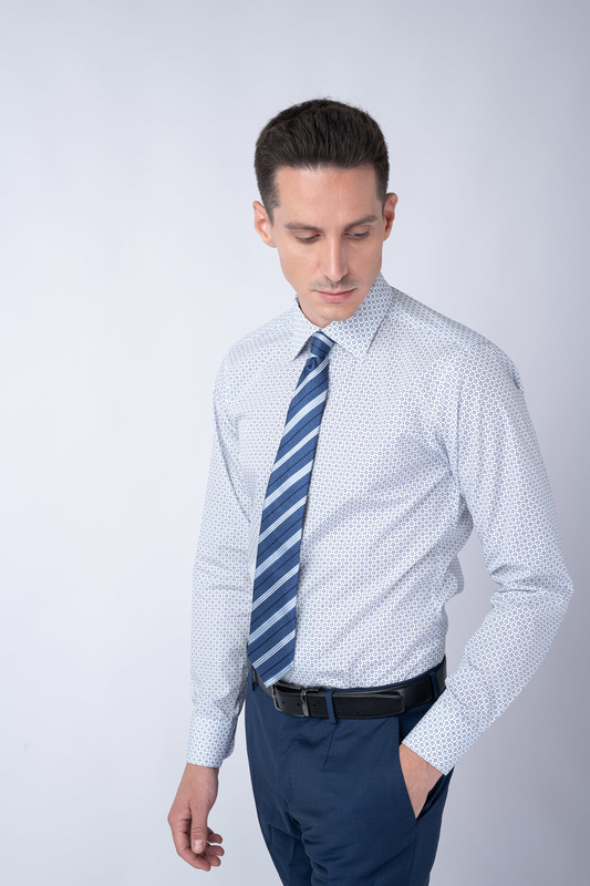 Formální košile S decentním vzorem