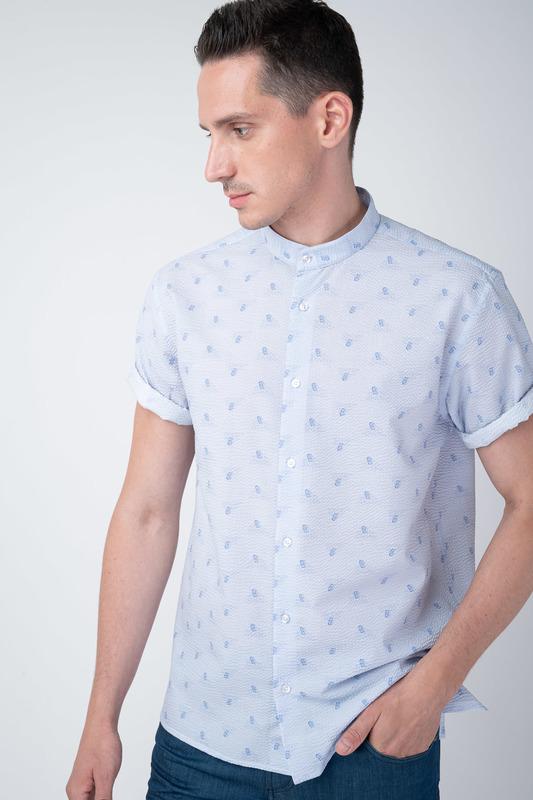 Volnočasová košile Se stojákovým límcem