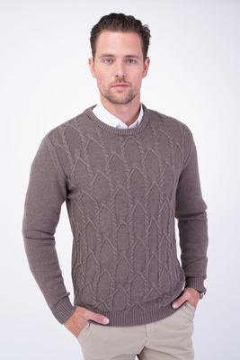 Neformální svetr S vyplétaným vzorem