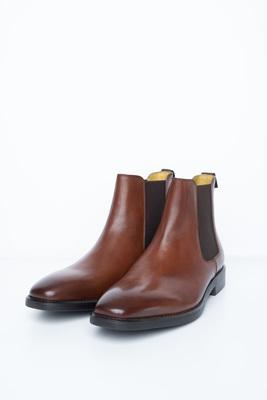 Koňakové chelsea boots S gumovými pérky
