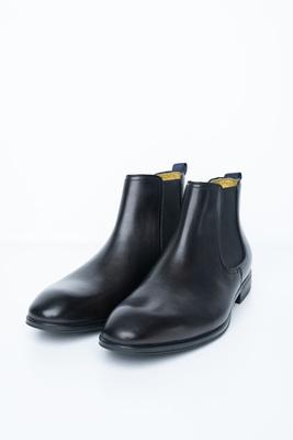 Černé chelsea boots S gumovými pérky