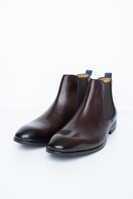 Tmavě hnědé chelsea boots S gumovými pérky