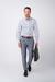 Šedé neformální kalhoty Z bavlny s příměsí elastanu