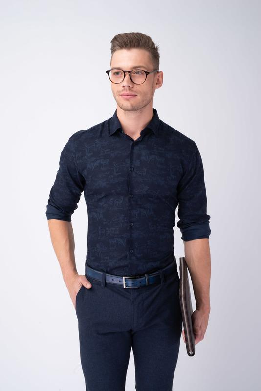 Neformální košile S nenápadným vzorem