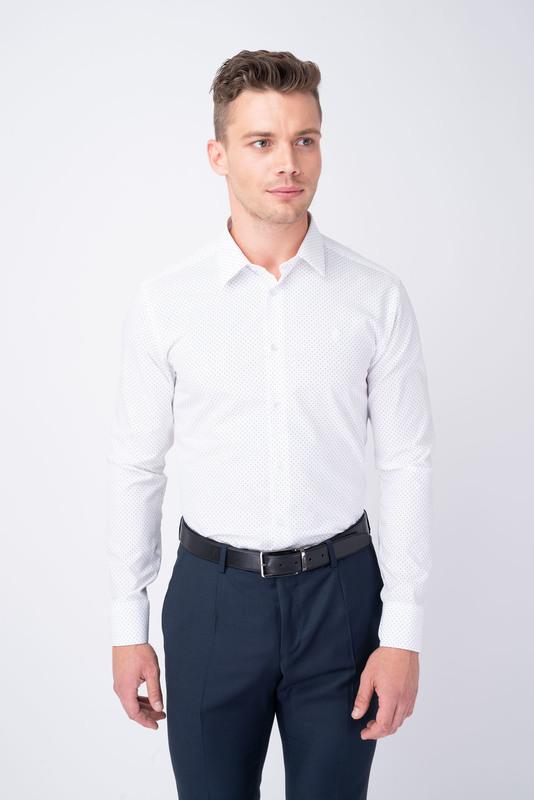 Formální košile S drobnými puntíky