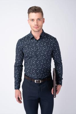 Formální košile S květinovým vzorem