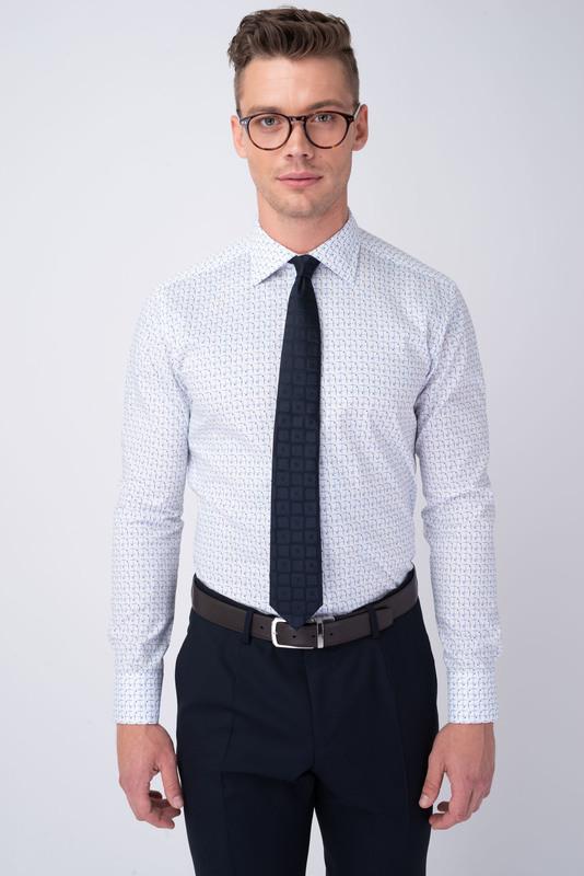Formální košile S geometrickým vzorem