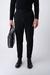 Černé neformální kalhoty V rozšířeném střihu