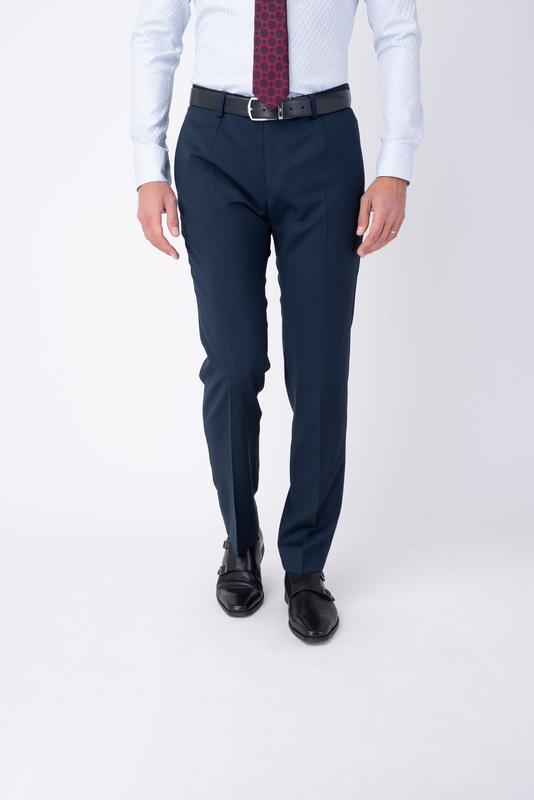 Tmavě modré oblekové kalhoty V extra slim střihu