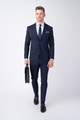 Tmavě modré oblekové sako V extra slim střihu