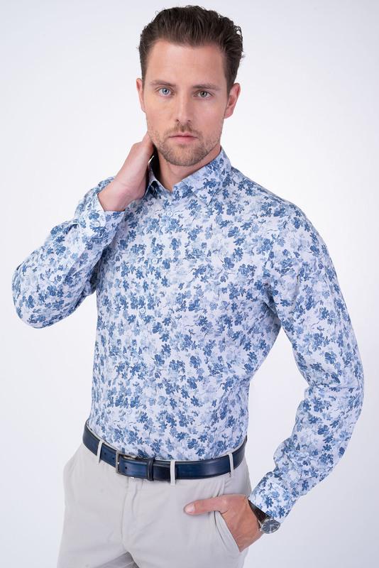 Neformální košile S květinovým potiskem