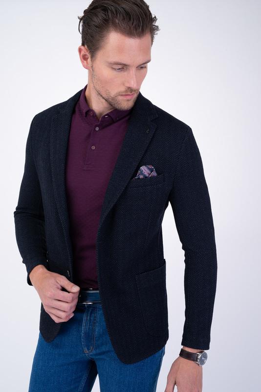 Jersey jacket Tmavě modré barvy