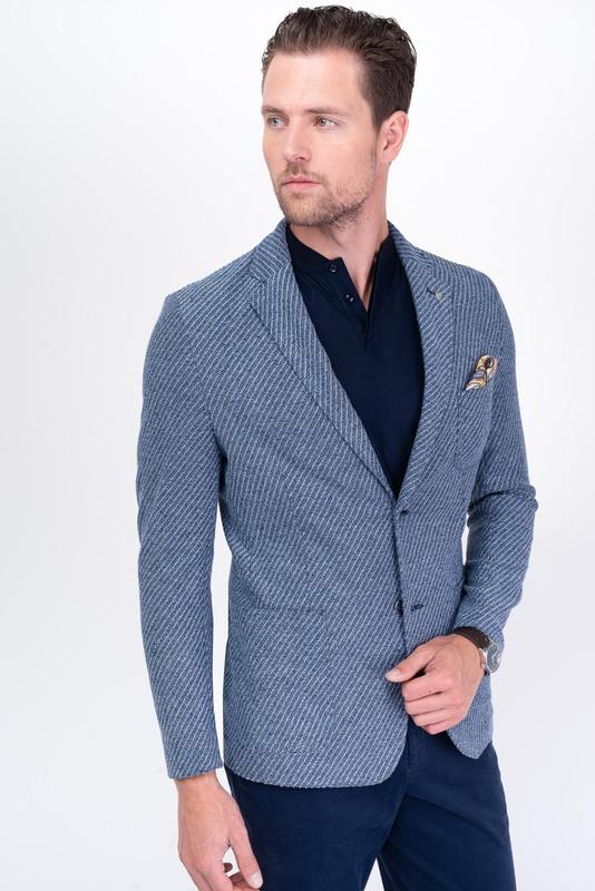 Jersey jacket Z bavlny a lnu