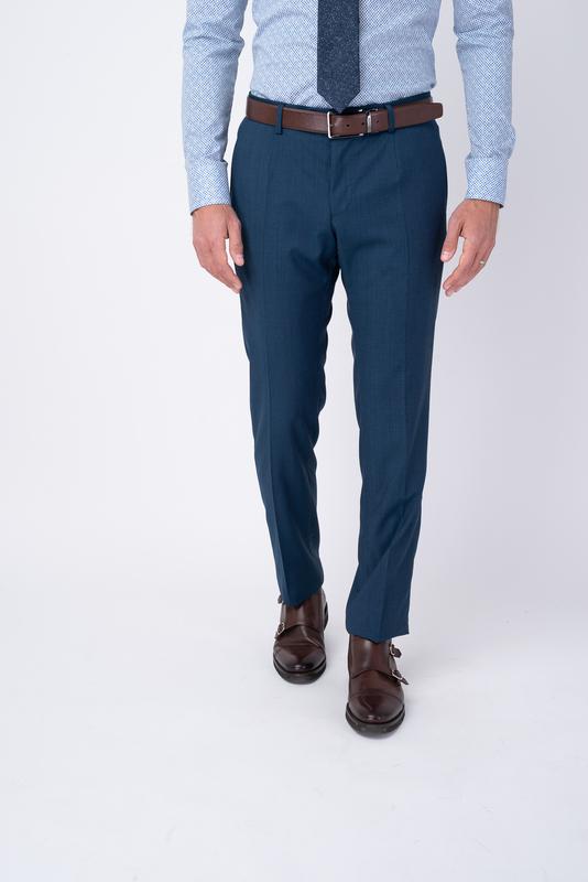 Modré oblekové kalhoty Ze 100% vlny