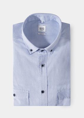 Pánská košile city slim, barva modrá