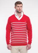 Pánský svetr golf , barva červená
