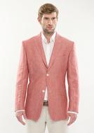 Pánské sako formal regular, barva červená